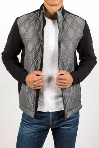 Quilted Blend Sweater Jacket