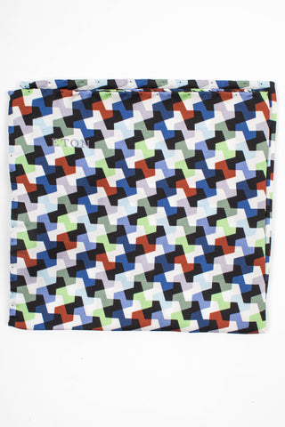 Geometric Print Pocket Square