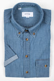 Denim Short Sleeve Popover Shirt