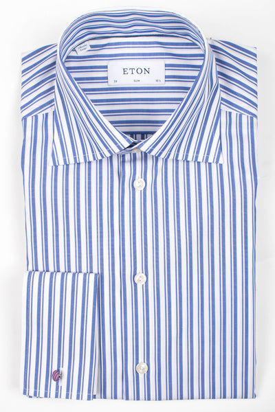 df9103738 Dual Striped French Cuff Shirt – Henry Singer