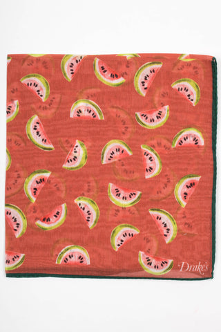 Watermelon Printed Pocket Square