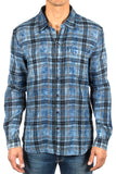Reversible Acid Wash Plaid Shirt