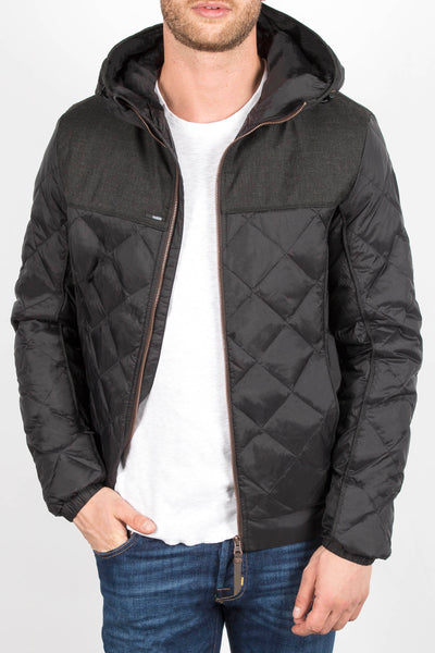 'Elroy' Quilted Hooded Jacket