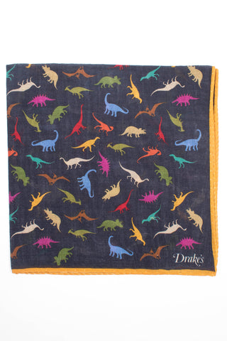 Dinosaur Print Pocket Square