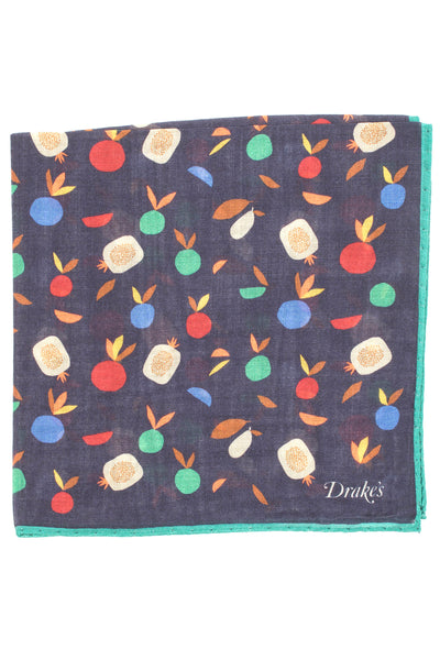 Fruit Print Pocket Square