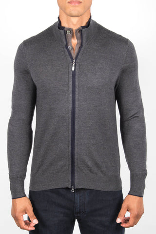 Full Zip Sweater with Buttons