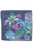 Saffron Flower Print Pocket Square