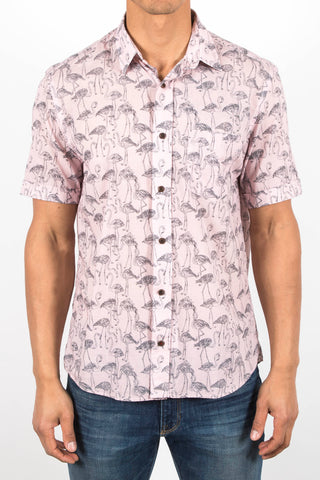 Botanical/Flamingo Patterned Shirt