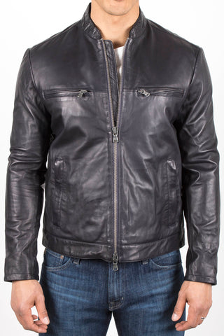 Leather Cafe Racer Jacket