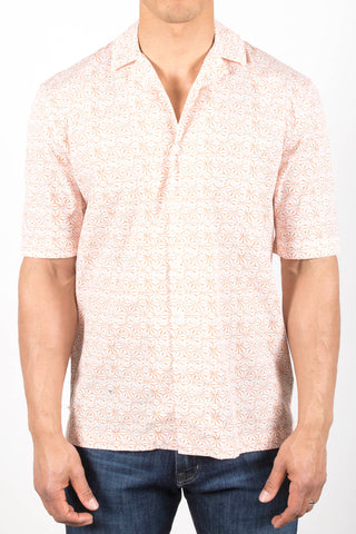 Shibori Stars Printed Camp Shirt