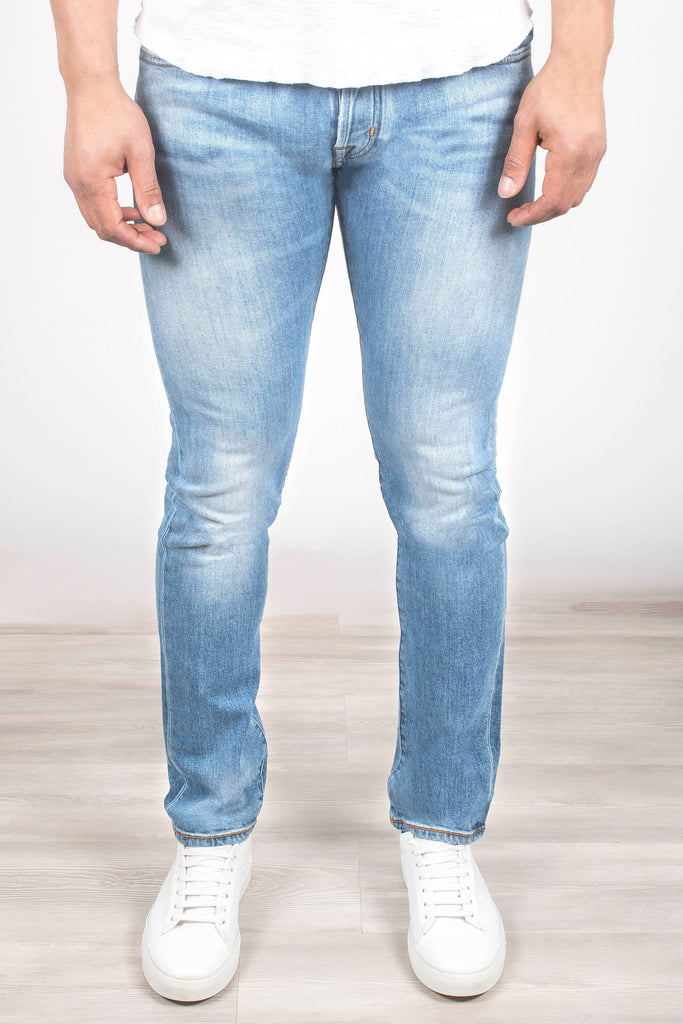 Distressed Wash Denim