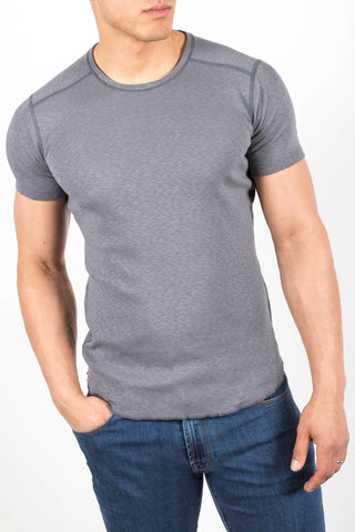 1x1 Slub Short Sleeve Crewneck Shirt