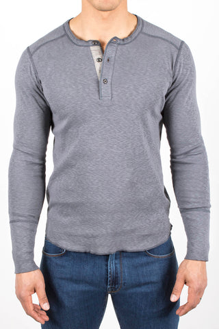 1x1 Slub Long Sleeve Henley Shirt