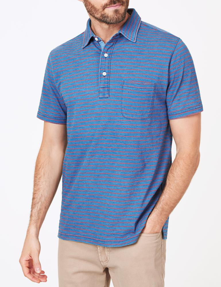 Indigo Stripe Polo