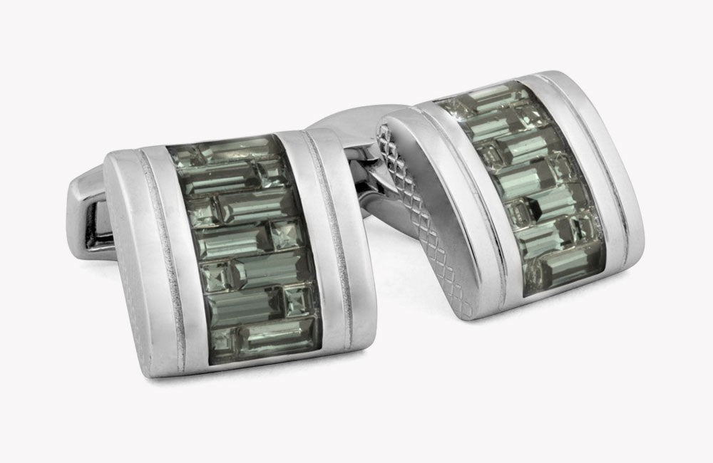 Interlock D-Shape Belgravia Cufflinks