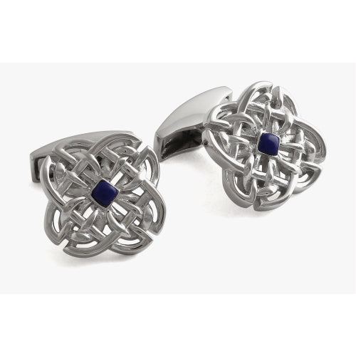 Celtic Stoner Silver Cufflinks