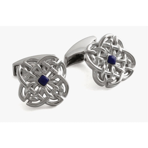 Celtic Stone Silver Cufflinks