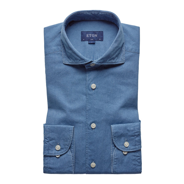 Slim Fit - Lightweight Denim Shirt