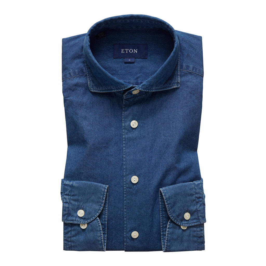 Contemporary Fit - Blue Denim Shirt