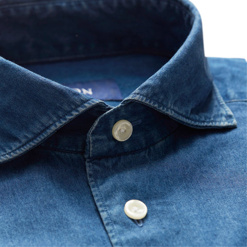 Slim Fit - Blue Denim Shirt
