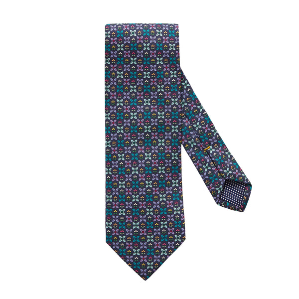 Flower Geometric Silk Tie