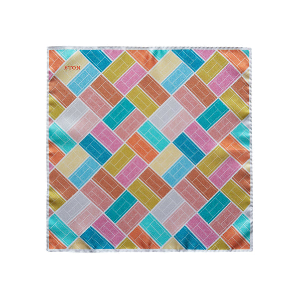 Tennis Court Print Pocket Square