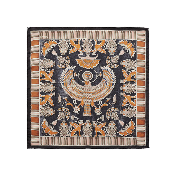 Ancient Inspired Paisley Print Pocket Square