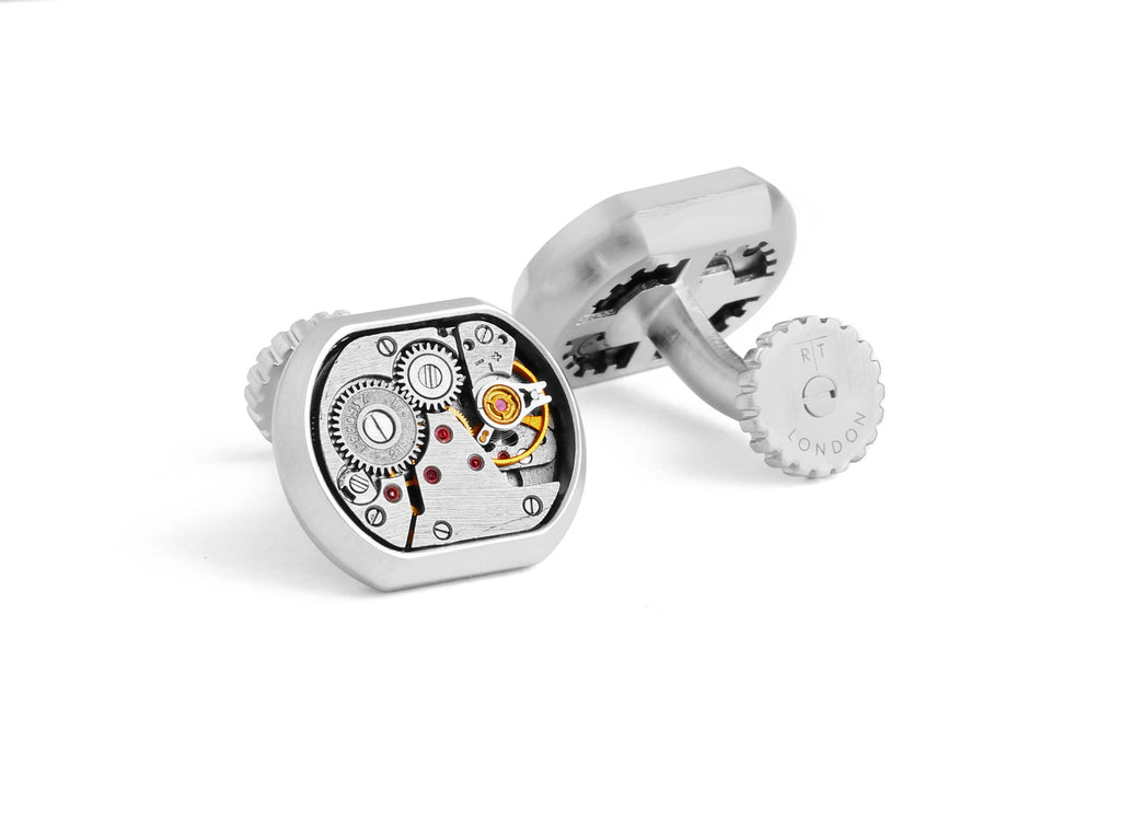 Skeleton Vintage Matte Cufflinks