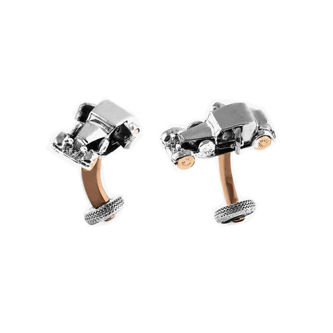 Vintage Car Cufflinks in Rose Gold