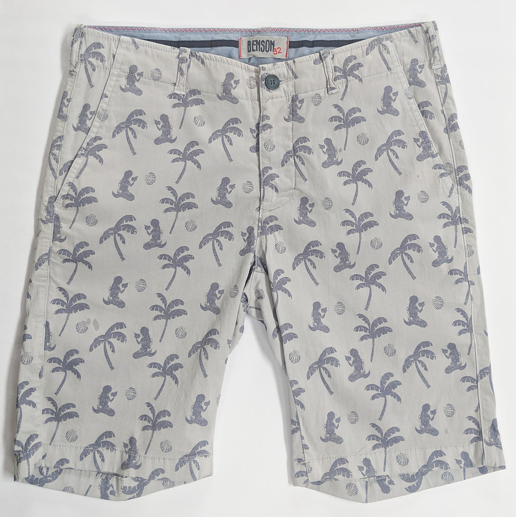 Palm Tree/Mermaid Print Shorts