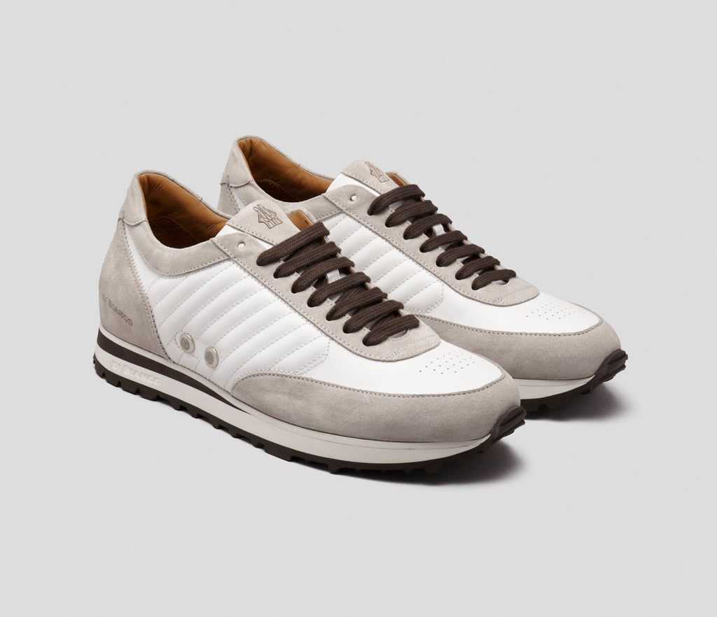 Daytona White Leather Sneaker