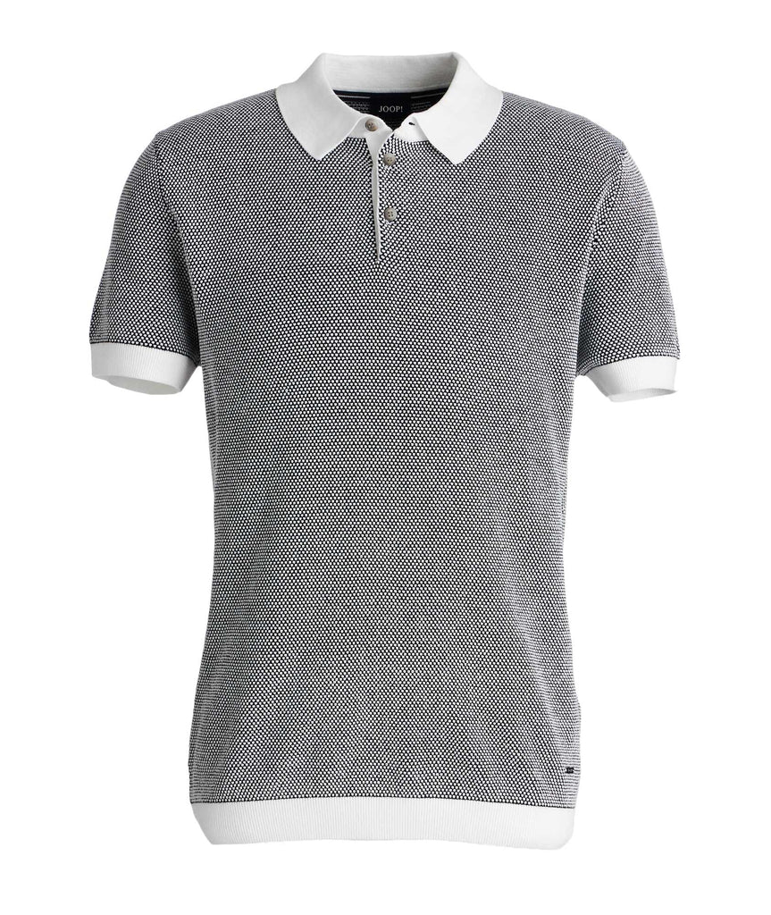 Honeycomb-Knit Cotton-Blend Polo