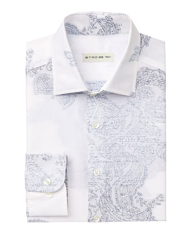 Jacquard Shirt with Paisley Details