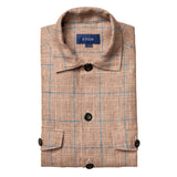 Checked Linen Overshirt