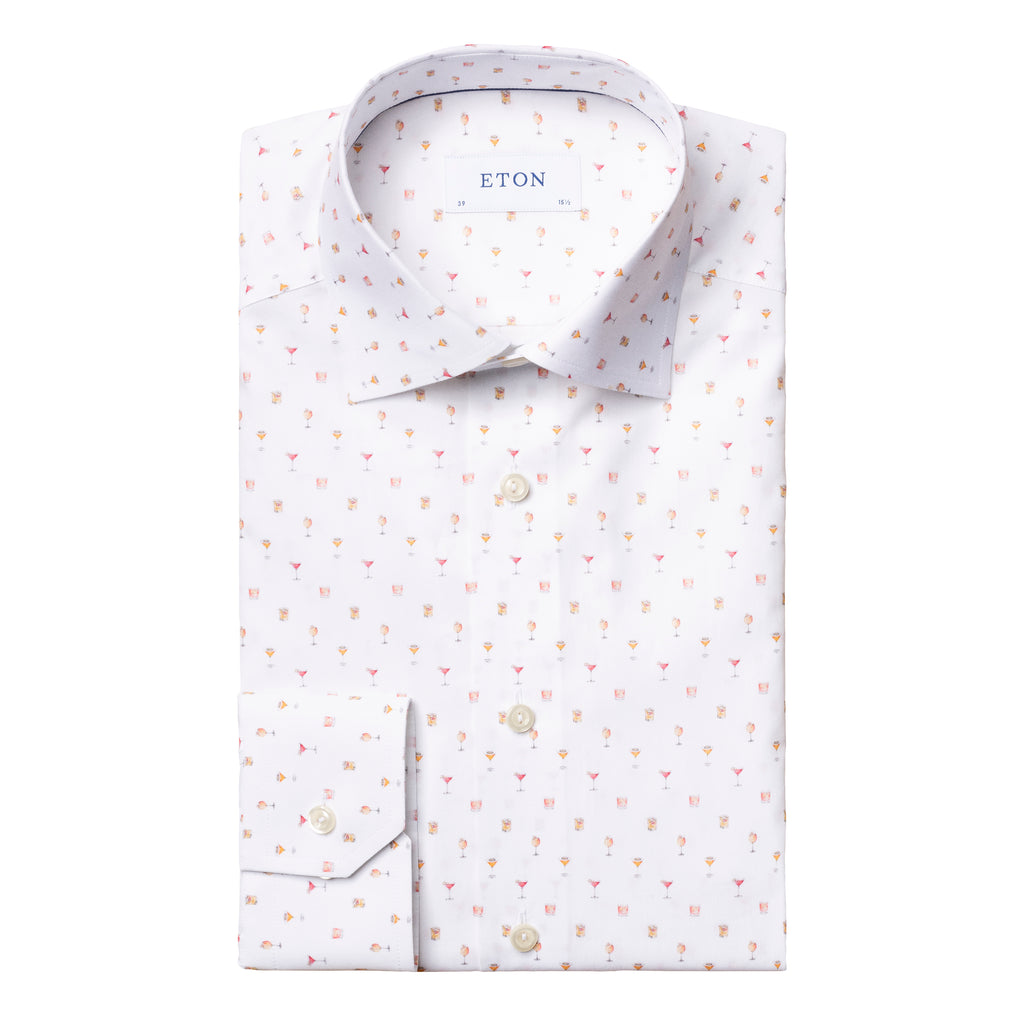Contemporary Fit - Cocktail Print Poplin Shirt