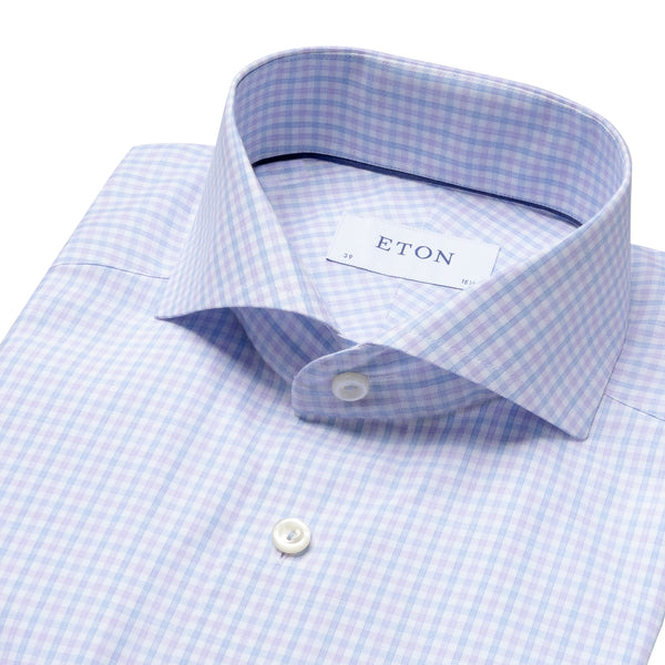 Slim Fit - Checked Cotton-Tencel Shirt
