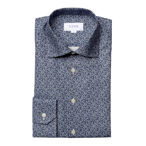 Slim Fit - Contrast Floral Detail Print Shirt
