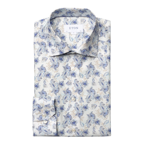 Slim Fit - Watercolour Paisley Shirt
