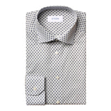 Slim Fit - Medallion Print Fine Twill Shirt