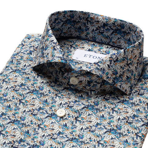 Slim Fit - Stained Floral Signature Twill Shirt