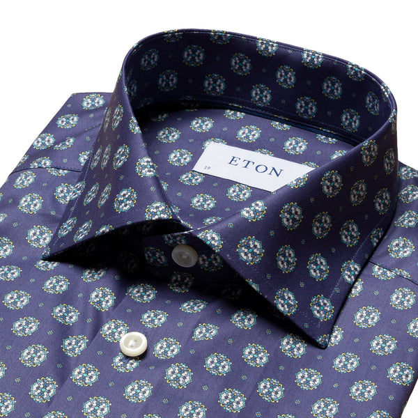 Contemporary Fit - Medallion Print Shirt