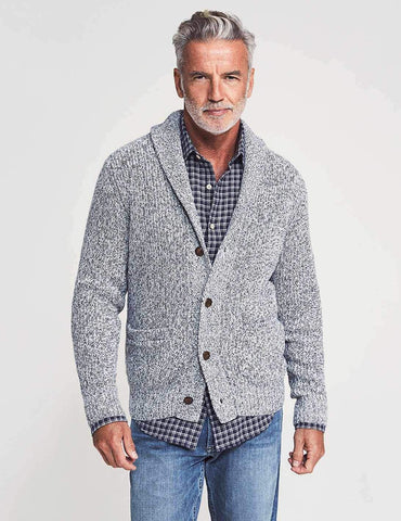 Marled Cotton Cardigan
