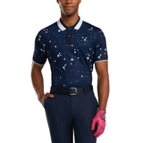 Flower and Dot Polo Shirt