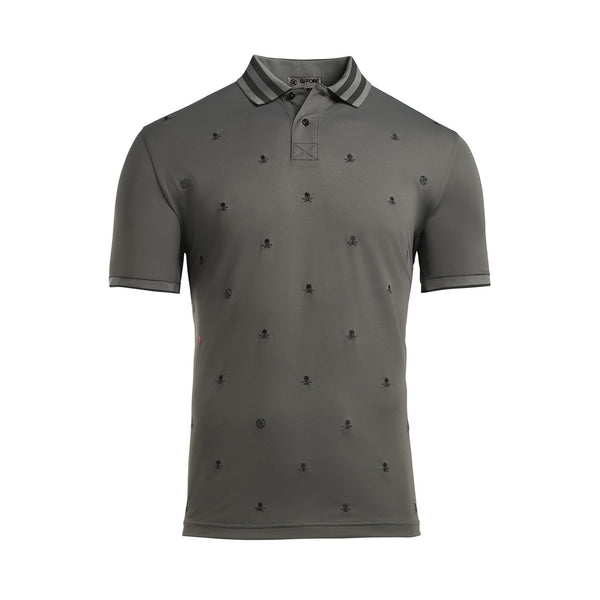 Skull & T's Embroidered Polo Shirt