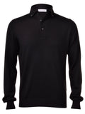 Long Sleeve Button Down Polo