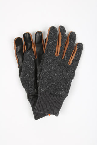 'Parker' Wool Leather Gloves