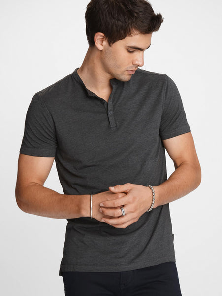 Short Sleeve Burnout Henley