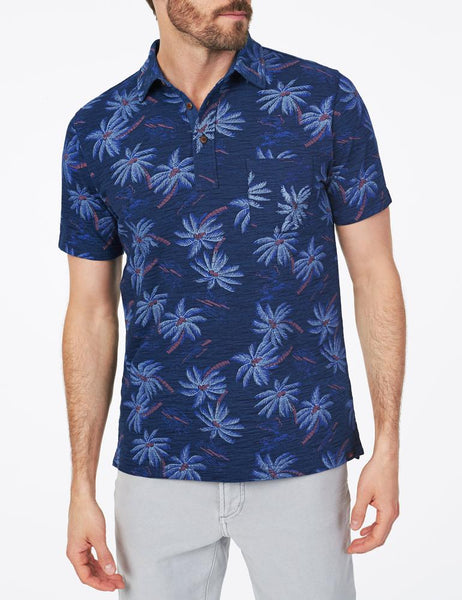 Palm Hawaiian Polo Shirt