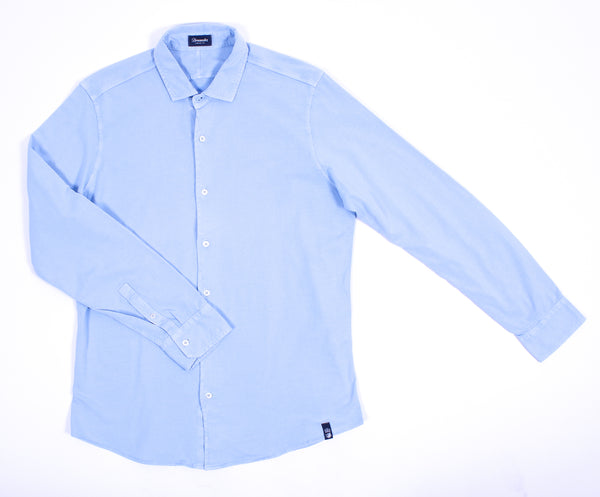 Iced Jersey Long Sleeve Button Front Shirt