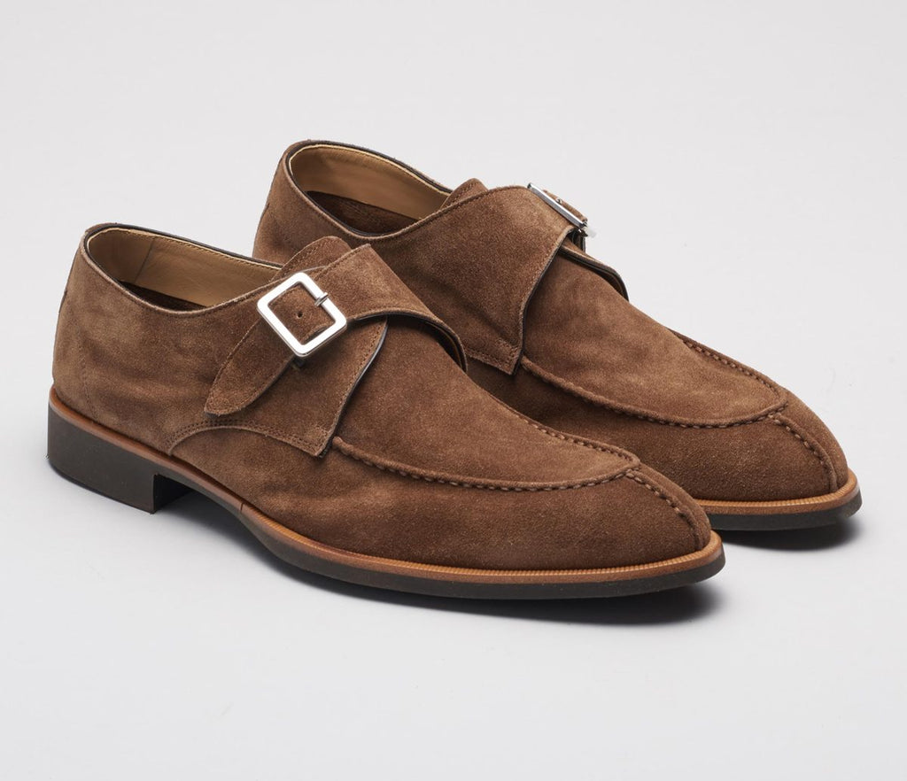 Suede Single Monk Strap